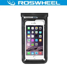 "Мобильный полнофункциональный телефон онлайн-ROSWHEEL Bike100% Full Waterproof 6.0"" Bicycle Mobile Phone Bag Case Pouch Touch Screen Cycling Bike Handlebar Bag Accessories"