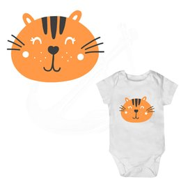 Wholesale Tiger Iron Patches - Cartoon Little Tiger Iron on patches 15*11cm baby stickers child T-shirt Sweater thermal transfer paper Patch for clothing