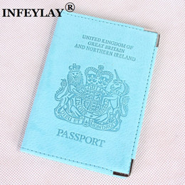 Wholesale credit card embossing - European and American passport holder passport cover Genuine leather to go abroad to personality UK embossing Card bag