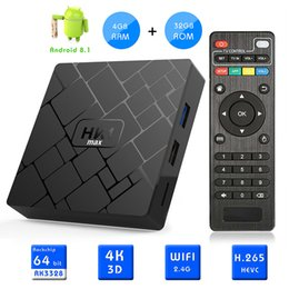 Octa core usb on-line-HK1 MAX Android 8.1 CAIXA de TV 4 GB 32 GB RK3328 Quad Core 4 K Set Top Box USB 3.0 Media Player VS MX10