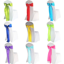 Wholesale fabric butterflies - Chair Sashes Satin Elastic Butterfly Chairs Back Cover Band For Wedding Banquet Hotel Decorations Ribbon Bowknot Prop Many Colors 1 2kq FZ