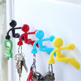 Wholesale Making Lanyard - Creative Climbing People Magnet Key Hanging Magnet Keychain Attract Iron Pothook Custom Made Phone Accessories Key Chain Business gift