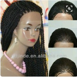 Wholesale 2x 12 - 180density full Senegalese 2X Twist Braids Wig Synthetic Afro Twisted Hair Heat Resistant Braiding Lace Front Wig For Black Women