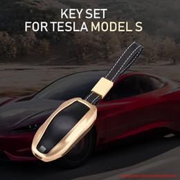boîtier de clé à distance de voiture toyota Promotion Clé de voiture abri lAluminum Alloy Car Auto Clé Fob Case Cover Holder Pocket Pour Tesla Model S