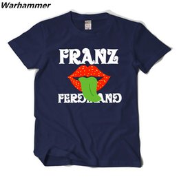 Wholesale Vintage Band Tees - Franz Fans Band T-shirt Men UK Vintage Rock Roll Style Tee Shirt Homme O-neck Short Sleeved Cotton Print Pattern Men T shirt S XXL Drop Ship