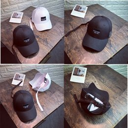 Wholesale embroidered patches letters - New Hat women's spring and summer patch letters baseball cap embroidered curved cap leisure wild sun visor female tide