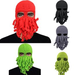 36be428cecf Hirigin 2017 Navelty Unisex Octopus Knitted Wool Ski Face Mask Knit Hat  Squid Cap Beanie Cool Gift Funny Street Winter Warm Hat