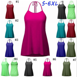 Wholesale Girls Lace Back Top - Solid Lace Up Vest Women Crop Top Sexy Back Lace-Up Tanks Summer Camis Casual Shirts Sleeveless Blusas Tees 100pcs OOA3868