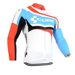 Wholesale Cube Long Sleeve Cycling Top - CUBE CCC team Cycling Long sleeve Jersey Simple Style Bikes Clothing Comfortable Breathablean and quick dry c1524