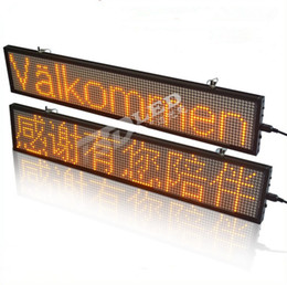 Wholesale Scrolling Led Display Sign - WIFI Programmable advertising LED Sign Board Pure Red, green, yellow blue Scrolling message Display Color can choose custom