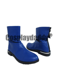 Teen Titans Raven Blau Kurze Halloween Cosplay Stiefel Schuhe von Fabrikanten