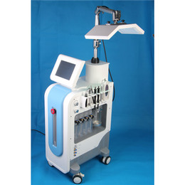 Pulverizador de máquina facial de vacío online-.US Technology Hydrafacial PDT LED Light 7 colores BIO Microcurrent pluma de vacío Oxígeno Spray Hydro Dermabrasion 8 en 1 Hydra Facial Machine