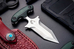 Wholesale daggers knives - High End Push Dagger mini Fixed Blade Knife small Fixed blade tactical EDC pocket knife D2 Satin Double Action Blade EDC Tools