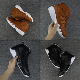 Wholesale Brown Baseball Gloves - 2018 With Box Mens Basketball Shoes Sneakers Baseball Glove Brown Black Aquot with Number 35 45 Leather Size US8-13