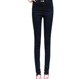 B3149 primavera e verão 2018 novo estilo de desgaste das mulheres versão coreana magro cintura alta stretch skinny lápis jeans barato por atacado cheap cheap summer jeans de Fornecedores de barato verão calças de brim