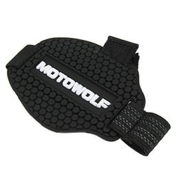 Носки для обуви онлайн-Black Rubber Motocross Shift Pad Motorcycle Gear Shifter Shoe Boots Protector Shift Sock Motorbike Boot Cover