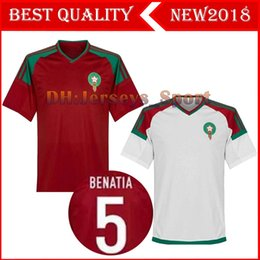 Wholesale Free Shipping World - 2018 World Cup Morocco home away third Soccer Jersey 2018 2019 Morocco green white red soccer jersey football shirt FREE shipping