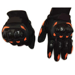 Wholesale Full Finger Armor - NEW arrived high quality Brand Motorcycle Full Finger Glove ATV Armor Gloves Racing Guante Wholesale