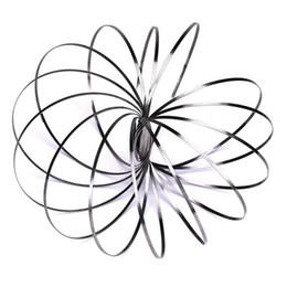 la scienza gioca nuovo Sconti Nuovi giocattoli di flusso Braccio Slinkey Toy Flow Rings Braccialetto cinetico a molla Scienza educativa Sensoriale Giochi interattivi