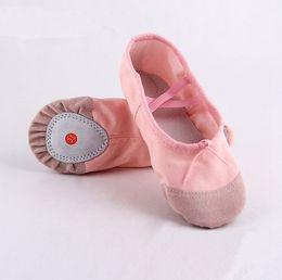 Wholesale children ballet dance - 20 sizes child adult canvas ballet dance shoes slippers pointe dance gymnastics ballet dance shoes for kids adult