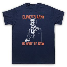 2019 caçoa camisas do exército OLIVER'S EXÉRCITO ELVIS COSTELLO PUB ROCHA NÃO OFICIAL T-SHIRT HOMENS SENHAS CRIANÇAS TAMANHOS de Alta Qualidade T-Shirt de Manga Curta T-Shirt desconto caçoa camisas do exército