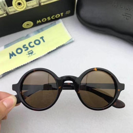 Wholesale johnny depp lens - High Quality AAAAA+ Brand design 42 46mm Moscot ZOLMAN sunglasses johnny depp round frame maching prescription sunglasses with original case