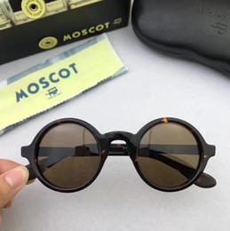 Wholesale prescription polarized lenses - High Quality AAAAA+ Brand design 42 46mm Moscot ZOLMAN sunglasses johnny depp round frame maching prescription sunglasses with original case