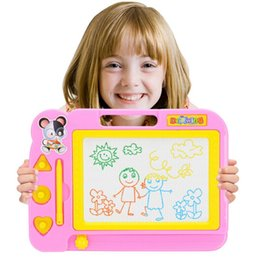 Wholesale Magnetic Writing Board Kids - 20*28cm Magnetic Drawing Board Sketch Pad Doodle Writing Painting Graffiti Art kids Children Educational Toys Learning Brinquedo