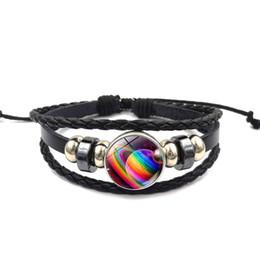 Звезды драгоценных камней онлайн-Браслет из разноцветной туманности Звездный браслет из бисера Time Gem Кабошон с цепочкой