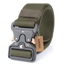 Wholesale Heavy Metal Belts - Lixada Waist Belt with Metal Buckle Adjustable Heavy Duty Training Carry Waist Belt Tactical Military Nylon Buckle