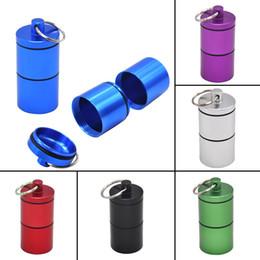 caisses stash en gros Promotion Pot de cachette en gros - Herbe en aluminium à l'épreuve des odeurs imperméable à l'air 2 boîtes de boîte de tabac de cas de conteneur d'épice