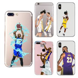 Curry Kobe Lebron Basketball Designer phone case para Iphone 11 Pro X XR XS Max 8 7 6 6 s plus S9 S10 Nota 10 Plus capa mole pintado Casco 398 de