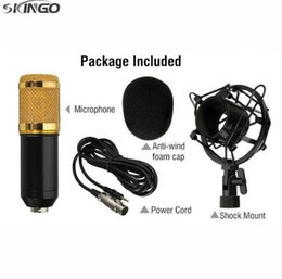 Wholesale wholesale pro audio - Wholesale Microphone BM800 Condenser Pro Audio Microphone Sound Studio Recording Broadcasting with Shock Mount Holder 40PCS lot