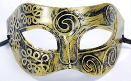 Wholesale roman supplies - party mask Dress Up Roman style half face Mask PC For Adults COSPLAY Halloween Party Supplies