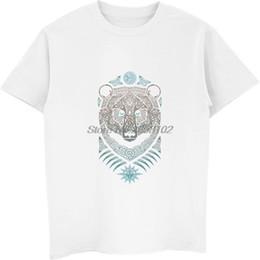 429fbf9b8621f 2019 дизайн татуировки t рубашки Лес Лорд Арт дизайн медведь татуировки  футболки прохладный мужской хлопок с