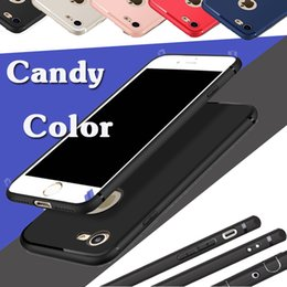 Colore solido della caramella antiurto TPU gomma gel silicone glassata opaca di protezione copertura di caso per iPhone 11 Pro Max XS XR X 8 7 6 6S più da casi di colore iphone 5c fornitori
