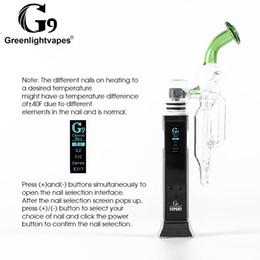 Stylo pipe livraison gratuite en Ligne-Original G9 Greenlightvapes TC Port kit Conduites d'eau en verre fumer stylo vaporisateur portable contrôle de la température DHL 3-7 jours livraison gratuite