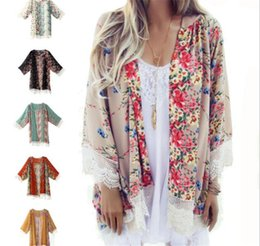 Argentina Patrón de flores borla de encaje de las mujeres Chal Kimono Cardigan estilo Crochet encaje ocasional capa de abrigo para arriba Blusa cabo M128 cheap cape style coats Suministro