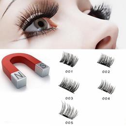 Wholesale mink eyelashes glue - 5 style Magnetic Eyelashes 3D Mink Reusable False Magnet Eye Lashes makeup Extension No Glue EEA119