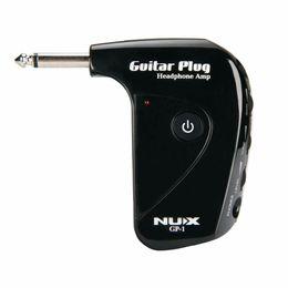 Canada NUX GP-1 Portable amplificateur de guitare électrique Amp Headphone Amp intégré effet de distorsion guitare plug amplificateur pour Silence paly Offre
