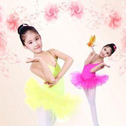 Wholesale Ballet Tutu Dance Costume - kids girls party ballet costume tutu dance skate dress leotard skirt 3-12 years baby girls tutu skirt free shipping
