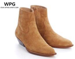WPG Europe Últimos estilos Botines Martin de cuero para hombre Botines Chelsea de alta calidad negros, zapatos de hombre de invierno marrón botas para hombre desde fabricantes