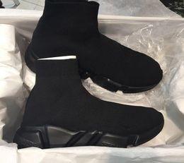 2019 graue stiefel Neue Unisex Freizeitschuhe Flache Mode Socken Stiefel Rot Grau Dreifach Schwarz Weiß Stretch Mesh High Top Sneaker Geschwindigkeit Trainer Runner Größe 35-46 rabatt graue stiefel