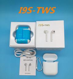 2018 I9S-TWS Bluetooth-гарнитура для мобильного телефона беспроводная гарнитура двойное ухо с зарядным устройством портативная стереогарнитура от