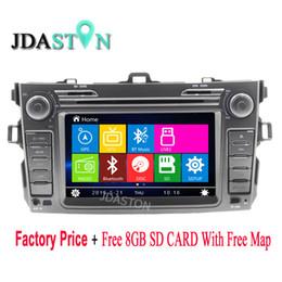 Wholesale dvd for toyota corolla - JDASTON 2 Din 8 Inch Car DVD Player For Toyota COROLLA 2007-2012 GPS Navigation auto Radio RDS Headunit 1080P Phonebook Map Aux
