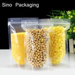 bolsas de embalaje de especias Rebajas Ziplock Stand Up spice en polvo bolsa de embalaje bolsa transparente Envío gratis