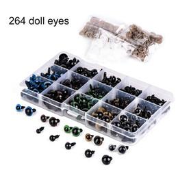 Wholesale Plastic Craft Eyes - 264 Pcs Set Bear Doll Animal Plush Toy Craft Black Colorful Safety Eyes Plastic 6-12MM BM88