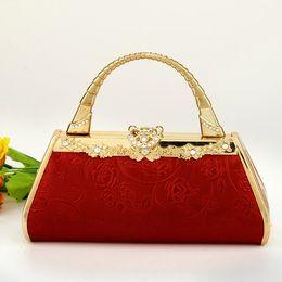 caixa de veludo roxo Desconto Novo estilo de Moda saco elegante mulheres sacos Sacos de Noite Embreagem Minaudiere Embossed Hoop banquete Celebrity bag lady