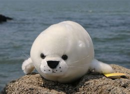 Wholesale Doll 38 - stuffed plush 38 cm white seal plush toy quality goods soft sea dog doll birthday gift b0423