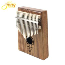 Wholesale Piano Grand - Tongling 17 Key Finger Kalimba Acacia Mbira Sanza Thumb Piano Solid Wood Finger with Carry